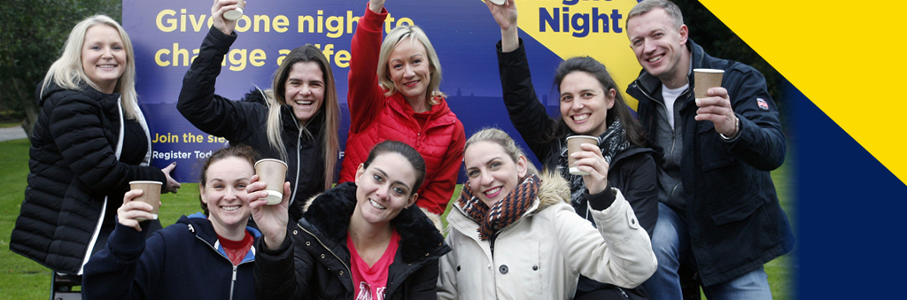 Sodexo collegaues at the 2019 Shine a Light Night