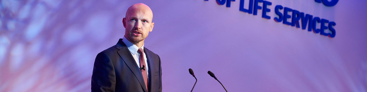 Matt Dawson hosting Sodexo event