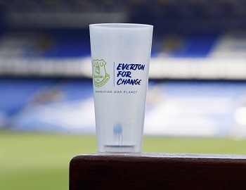 Reusable cup at Goodison Park