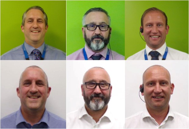 Picture HMP Peterborough staff before and after their haircuts