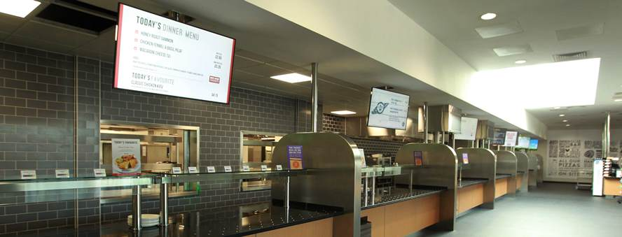 Roberts Diner food servery at Super Diner at Larkhill Barracks