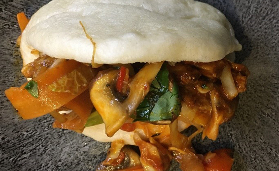 Picture of stir fry in bao bun