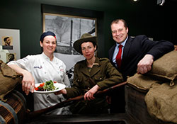 Julianne Forrestal, executive craft chef, Sodexo Ireland (centre) with Litfest co-founders Rory O'Connell and Darina Allen at the recent Dublin launch.