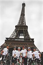 Sodexo magnificent seven pedal to Paris for charity