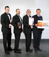 Sodexo team at Jaguar Land Rover celebrates win at 2013 Flame Awards